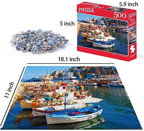 CETECK 500 Piece Large Jigsaw Puzzle for Adults Kids - 500 pc Dream Landscape Jigsaw Puzzle Game Interesting Toys - Hand Made Puzzles Personalized Gift(BKCN-20)