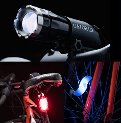 Pair Cree Q5 LED Zoomable Bike Cycling Head Light Front Flashlight Torch Lamp US