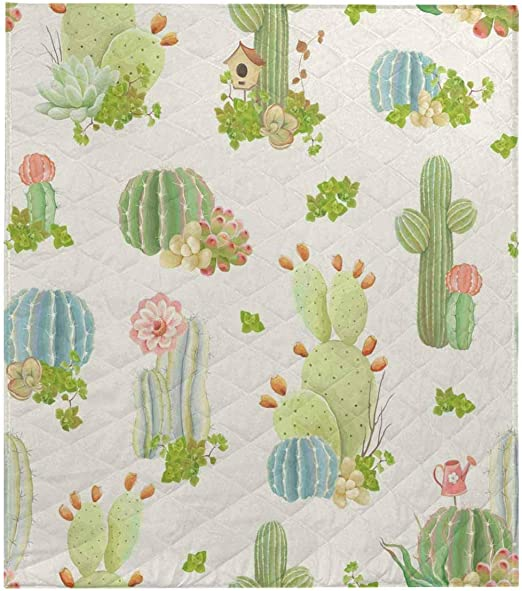 Amazon Com Interestprint Nature Pattern With Flowers Cactus And