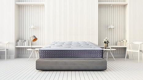Dream Colchones Gel Visco elástico, Poliéster, Blanco, 135 x 190 cm