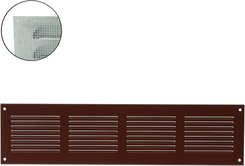 Marr/ón /18526/ MKK/ /Rejilla de ventilaci/ón rejilla de pared cierre metal Canalizado zufluft Mosquitera