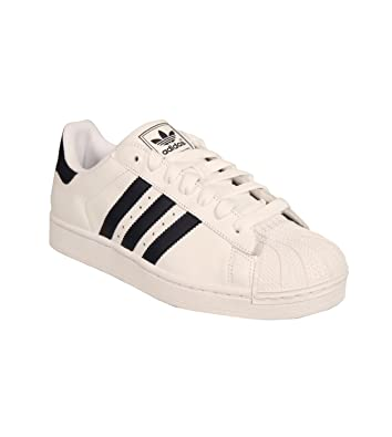 Amazon.com | Adidas Originals Superstar II White Navy Unisex Casual Shoes G17070 | Fashion Sneakers