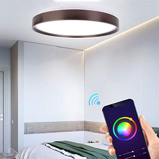 Plafon 15In Wifi Smart Panel LED Luz De Techo 60W RGB Ajustar ...