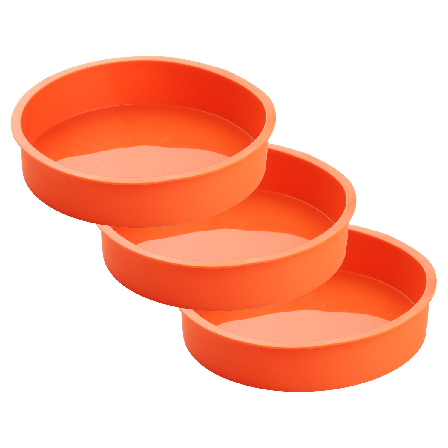 3 Piece Round Silicone 7 ¼ Inch Cake Mold Baking Pan Set, Includes 5 Laminated Greaseproof Cardboard Cake Circles by A Baker and Cook by A Baker and Cook (Image #2)