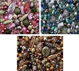 Approx X 1200 Jewelry Making Beads Mix Starter Kit for Beginners in Blue Brown & Pink