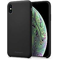 Spigen Silicone Fit Serisi Kılıf iPhone XS/X ile Uyumlu / Ultra İnce Kapak - Black