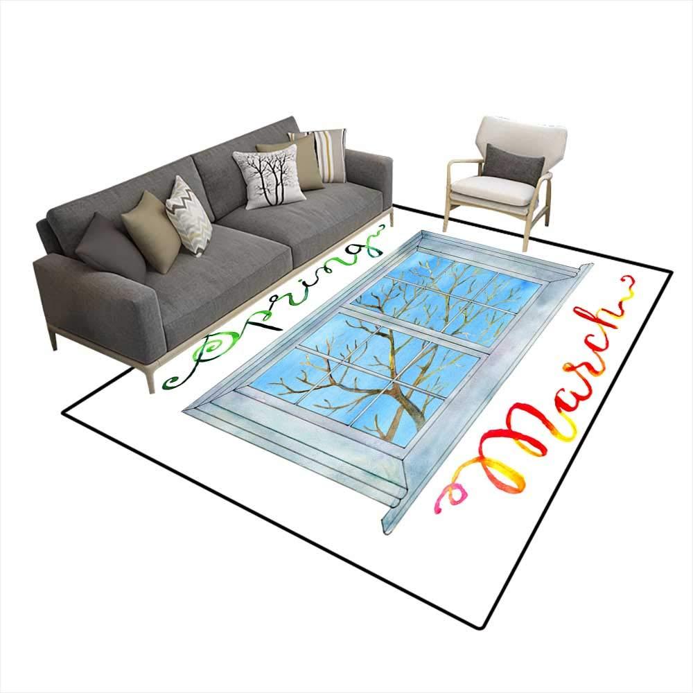 Amazon.com: Washable Carpet March Concept Window anspring ...