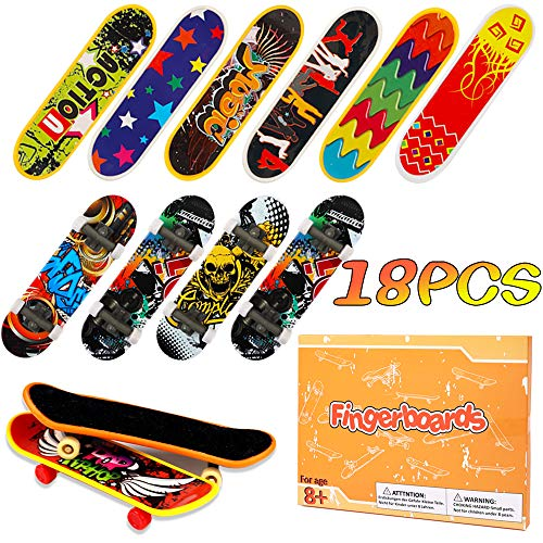 Hehali 18Pcs Finger Skateboards