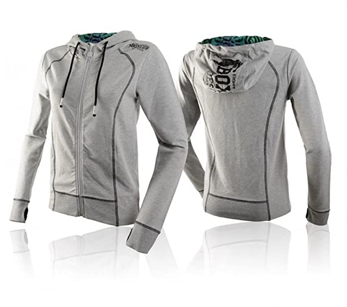 BOXEUR DES RUES - Sudadera con capucha - para mujer gris L: Amazon.es: Ropa y accesorios