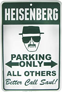 TG,LLC Treasure Gurus Breaking Bad Heisenberg No Parking 8x12 Metal Sign Man Cave Garage Home Wall Decor