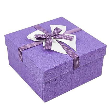 Caja de Regalo romántica del día de San Valentín Caja de Embalaje del Papel Cuadrada Opcional