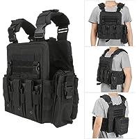Outdoor Vest Clothes, Camouflage/Black Adjustable Lightweight Molle Tactics Outdoor Tactics Vest, for Store Items Put…