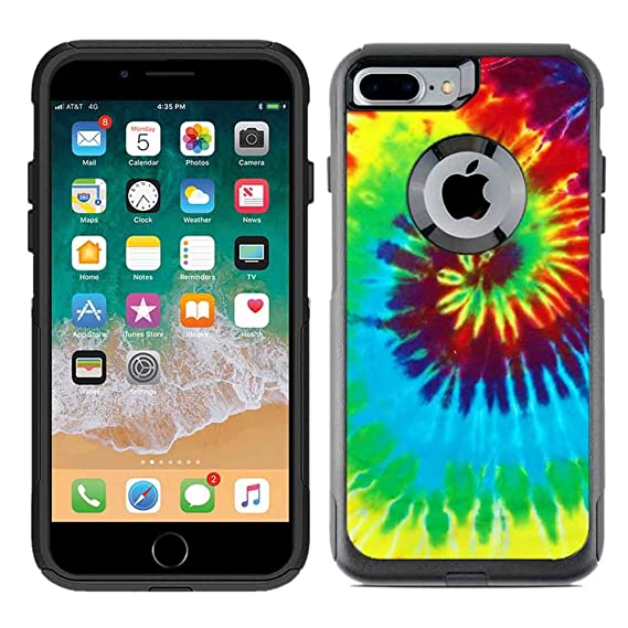 cheap for discount 18557 2f908 Protective Designer Vinyl Skin Decals for OtterBox Commuter iPhone 7  Plus/iPhone 8 Plus Case - Tie Dye Design Pattern - Only Skins and NOT Case  - by ...
