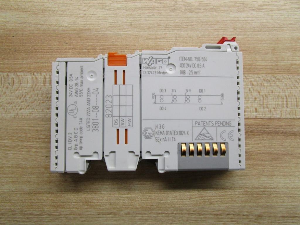 USED Wago 750-504 Digital Output Module 4 Channel
