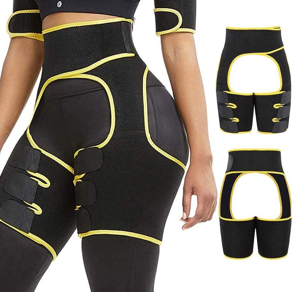 ED express 3-in-1 Thigh Waist Trimmer for Women - Weight Loss Butt Lifter Trainer Slimming Support Belt Hip Raise
