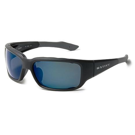 5ecabc0740 Native Eyewear Bolder Sunglasses - Matte BlackFrame Blue Reflex Lens   Amazon.ca  Clothing   Accessories