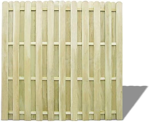 Furnituredeals Malla para cercas Panel de Valla de Madera de Pino impregnada 180x180 cm cercas para Jardin: Amazon.es: Jardín