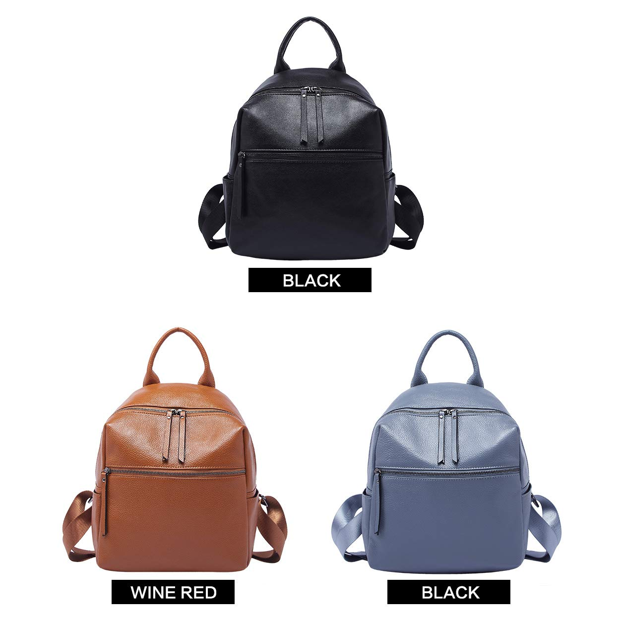 BOYATU Genuine Leather Backpack Purse for Women Anti-theft Small Shoulder Bags by BOYATU (Image #6)
