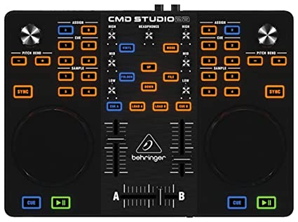 Behringer CMD STUDIO DJ Controller with 4-Channel Audio Interface DJ Controllers at amazon