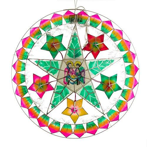 Gift Ko Handmade Nativity/Star Parol Christmas Lantern 24 inch Multicolored
