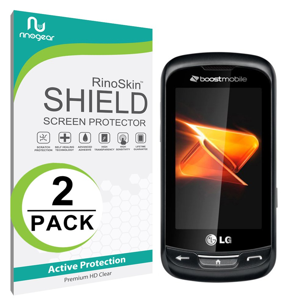 Amazon.com: [2-PACK] LG Rumor Reflex Screen Protector [Military-Grade]  RinoGear Premium HD Invisible Clear Shield Anti-Bubble: Cell Phones &  Accessories