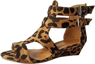 Sunnywill Sandales D'été pour Femmes, Chaussures Casual Léopard Sandales D'été Chaussures Casual Léopard Sandales D'été