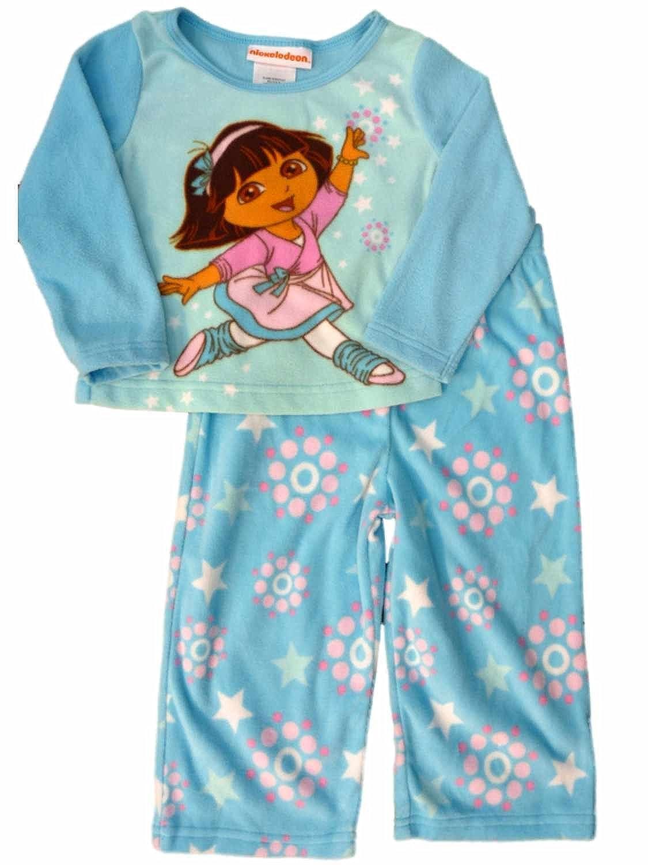 Nickelodeon Toddler Girls Dancing Dora The Explorere Sleepwear Set Pajamas 2T