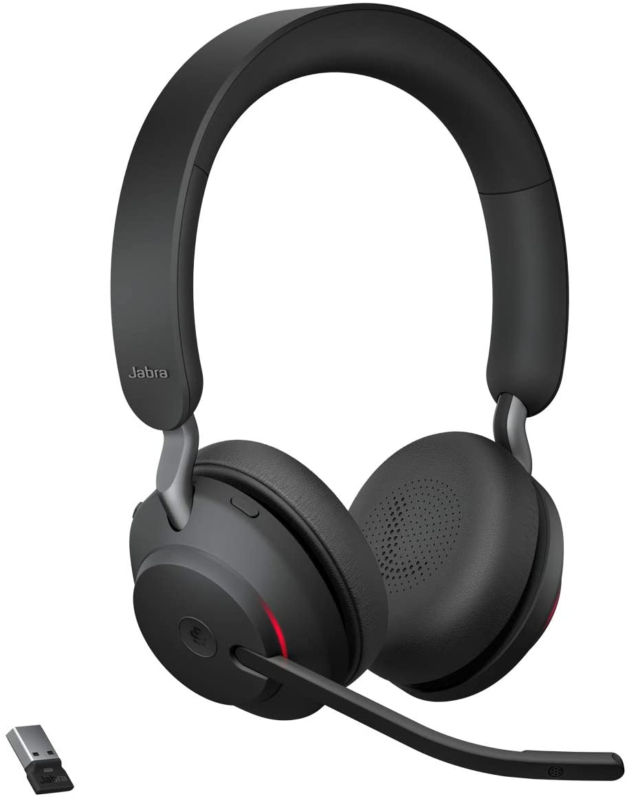 reconditionn/é Jabra Evolve 65 Casque st/ér/éo Bluetooth sans fil optimis/é pour une communication unifi/ée Noir