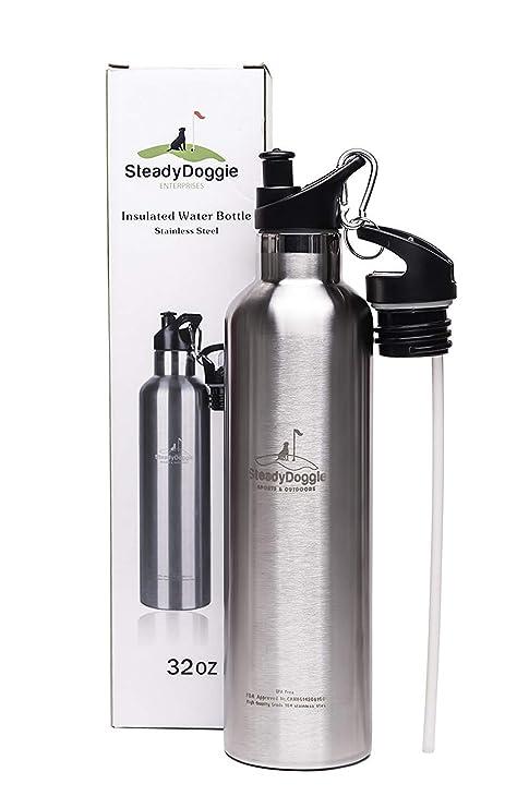20 oz botella de agua de acero inoxidable aislado al vacío ...