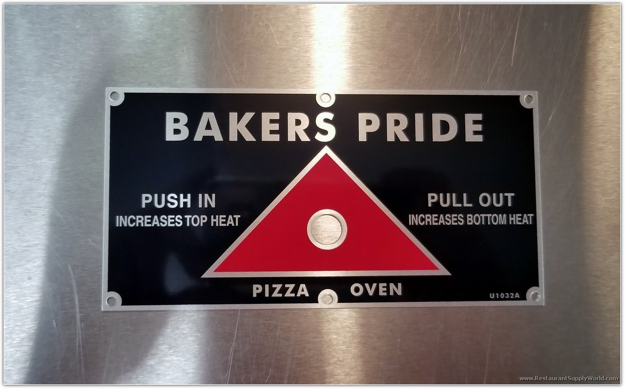 Bakers Pride Pizza Oven Damper (Push/Pull) Knob Decal