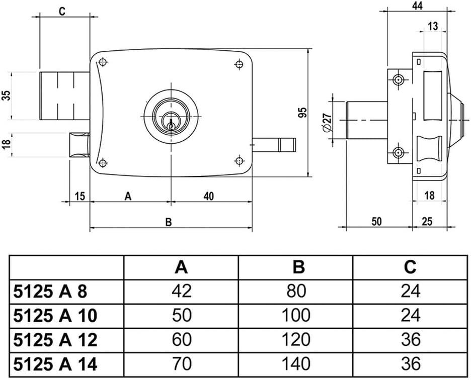 Derwent Macdee Kayla DVA0100 Bot/ón y v/álvula de doble descarga para cisterna accionados por cable