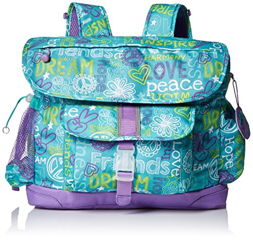 bixbee-hope-peace-love-kids-backpack-teal-large