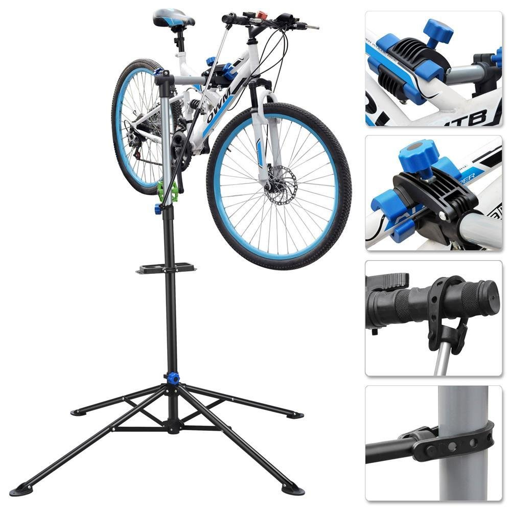 Yaheetech Folding Bike Bicycle Maintenance 52'' to 75'' Repair Workshop Stand Tool by Yaheetech (Image #4)