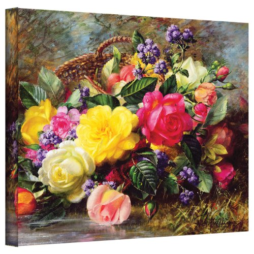 ArtWall williams-b-006-24x32-w Albert Williams 'Roses from a Victorian Garden' Gallery-Wrapped Canvas Artwork, 24 by ()