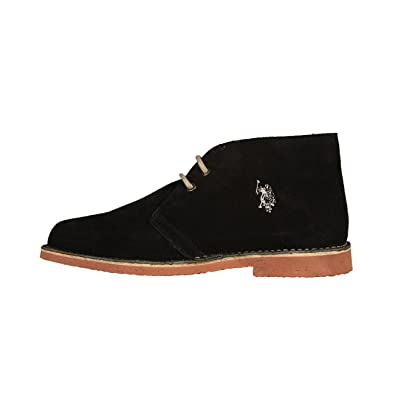 US Polo Association - Zapatos de Cordones de Piel para Hombre Azul ...