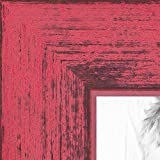 ArtToFrames 10x13 inch Berry Rustic Barnwood Wood Picture Frame, WOM0066-77900-YPNK-10x13