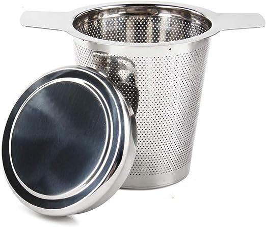 y los potes flojos del t/é del grano de la hoja las tazas OUNONA Infusor de Te Filtros para Te/Acero inoxidable 304 con la tapa para las tazas