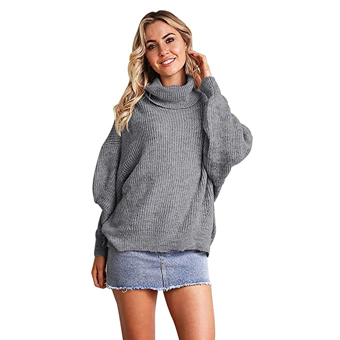 brand new 23d4a 929ea Lingyan Camicia di Donna Collo Alto Camicie Pullover Top ...