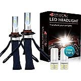 LED Headlight Bulbs Conversion Kit - 4WDKING 9005 HB3 Fanless Copper Braid Heat Dissipation Super Bright High Beam Fog…