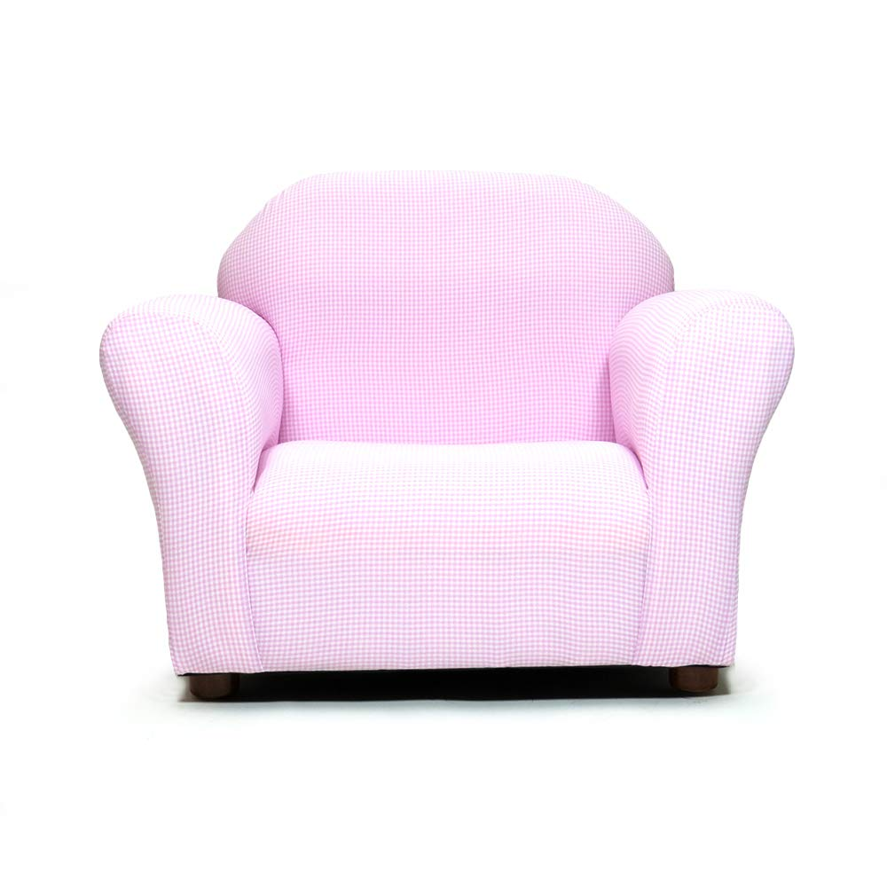 KEET Roundy Kid's Chair Gingham, Pink
