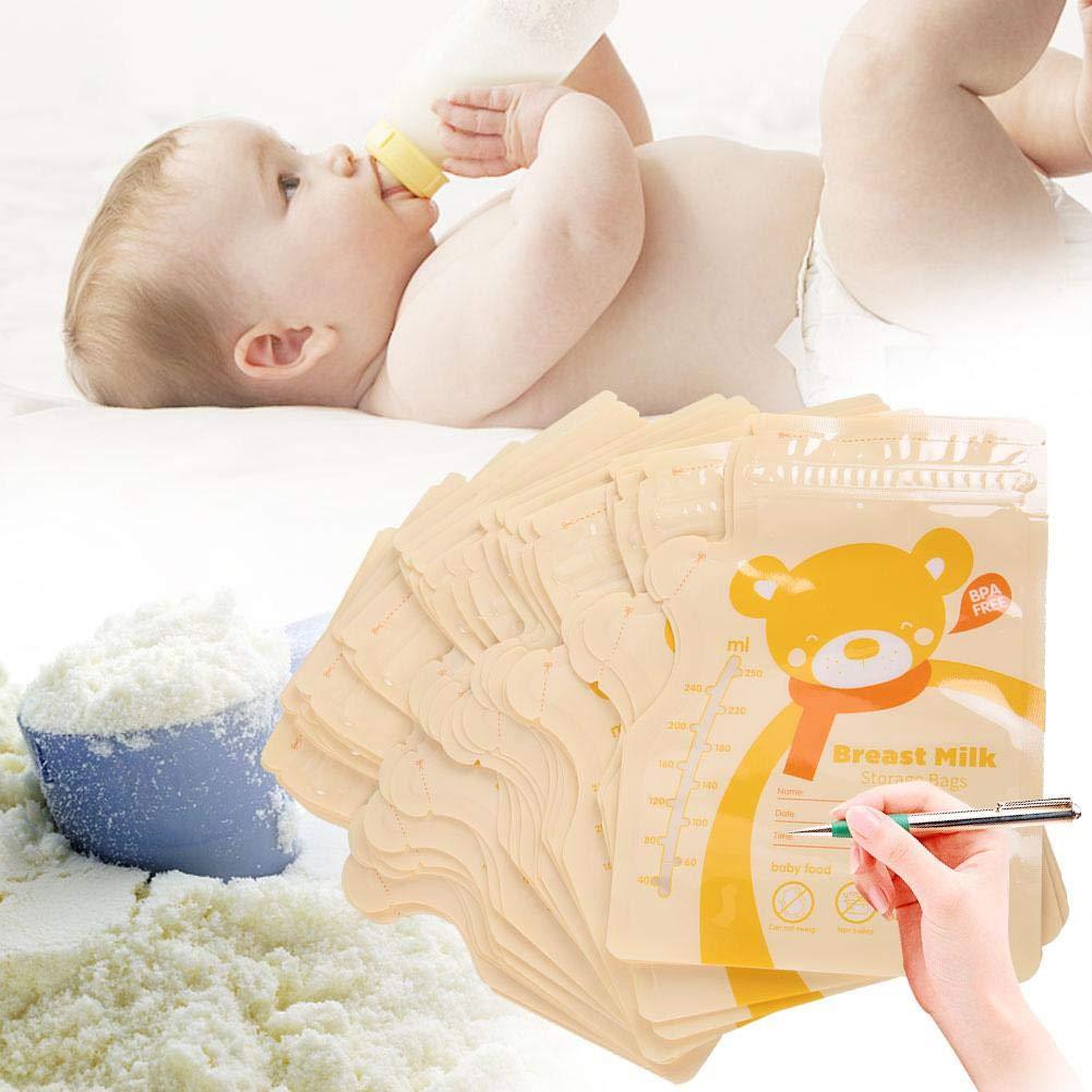 Aufbewahrungsbeutel f/ür Muttermilch 30 ST/ÜCKE 250 ML Aufbewahrungsbeutel f/ür Muttermilch Einweg Aufbewahrungsbeutel f/ür Muttermilch Blau