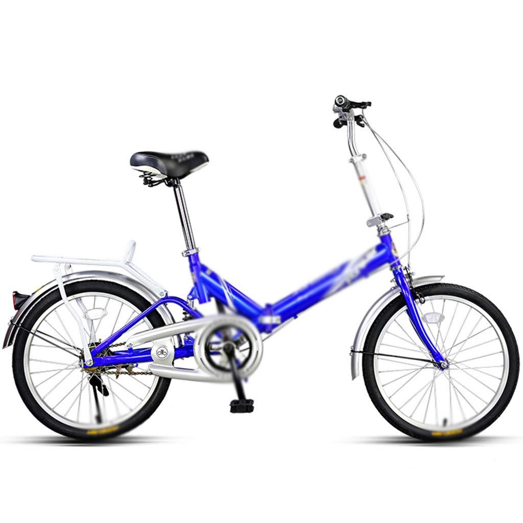 キッズ自転車 折りたたみ式 学生 自転車 小型 自転車 女の子 自転車 超軽量 ポータブル 自転車 20インチ 20inches ブルー B07J479R32  ブルー 20inches