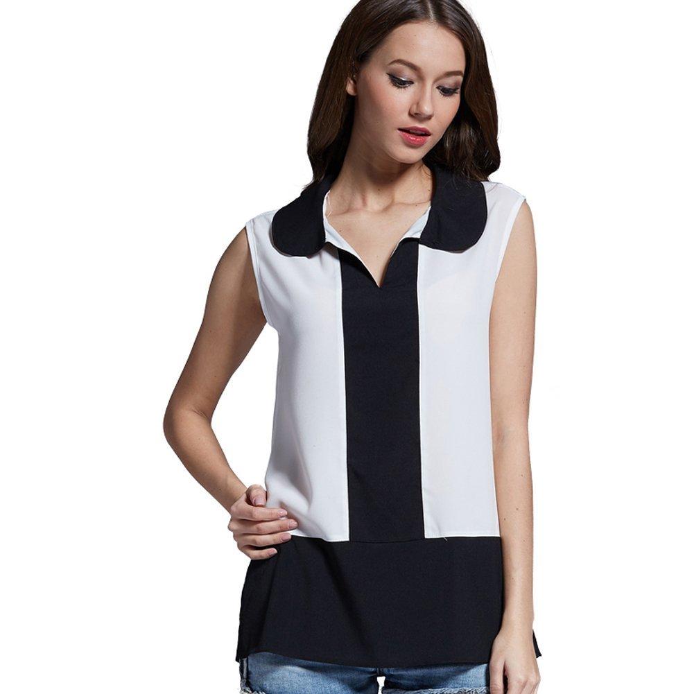 Weixinbuy Women Casual Summer Vest Top Short Sleeve Blouse