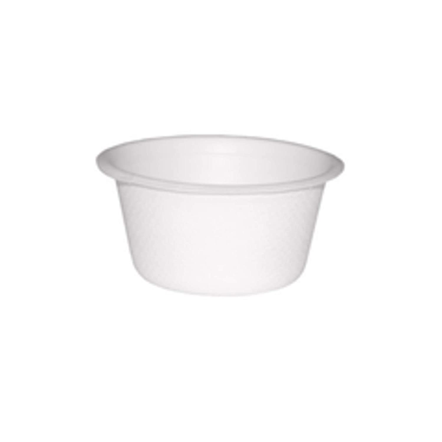 Sugarcane Condiment Souffle Cup (Case of 2000), PacknWood - Compostable and Biodegradable Dipping Cups (2 oz, 2.4