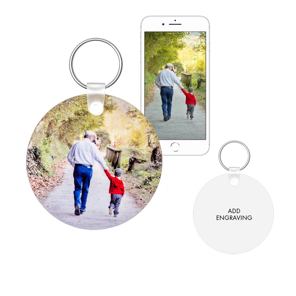 Eve's Addiction Round Custom Photo Keychain