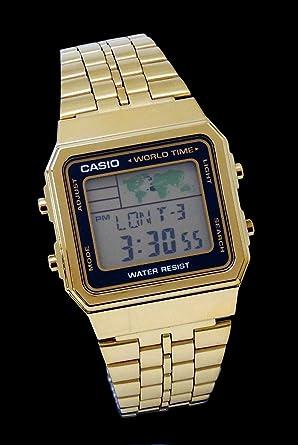 Oro Oro Negro Negro Femenil Reloj Casio A-500Wga-1 estándar Digital Varonil: Amazon.es: Relojes