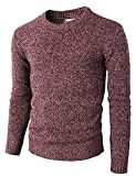 H2H Mens Casual Basic Knitted Turtleneck Slim Fit Pullover Thermal Sweaters Maroon US L/Asia XL (KMOSWL0122)