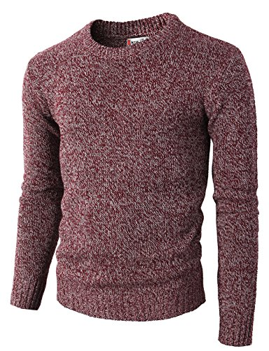 (H2H Mens Casual Basic Knitted Turtleneck Slim Fit Pullover Thermal Sweaters Maroon US L/Asia XL (KMOSWL0122))