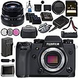 Fujifilm X-H1 Mirrorless Digital Camera (Body Only) 16568731 XF 35mm f/2 R WR Lens 16481878 VPB-XH1 Vertical Power Booster Grip Bundle