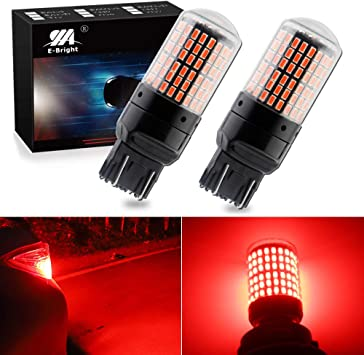 AUXITO PAIR 7443 7440 7444 Red LED Strobe Flash Brake Tail Light Parking Bulbs A